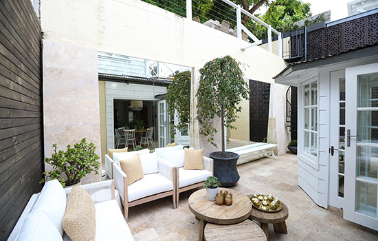 Palmer loves the outdoor living spaces. Picture: Scott Ehler Photography