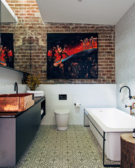 """Only hang art in the bathroom if you have excellent ventilation and extraction."""