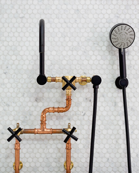 """""""Brass, gold and black in colour, tapware doesn't have to stick to traditional rule but feels suitably industrial."""""""